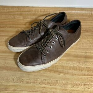 Mens Frye Brown Leather Sneakers Shoes 11