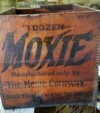 Antique Moxie Soda Crate~ Great Piece~ Circa 1920-40's Free Ship!