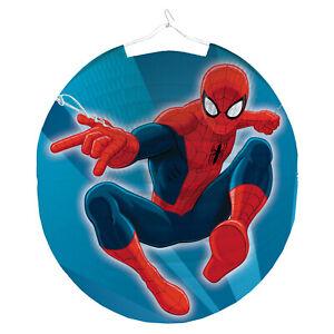 Spider-Man Kinder Laterne LAMPION rund 25cm Spiderman
