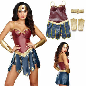 Adult Wonder Woman Cosplay Halloween Party Costumes Dawn Justice Superhero