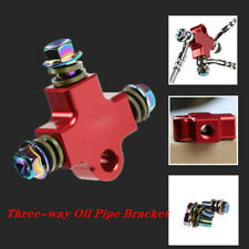 1PCS Hydraulic Brake Hose Line CNC Pipe Tee Connector 3 Way Adapter Universal