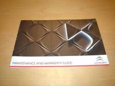 CITROEN SERVICE BOOK DS3 DS 3 PureTech AIRDREAM VTI Not Owners Manual Handbook