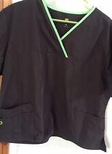 Unbranded Scrub Brown Medical Aid 2x Men Women 20-22 Plus Uniform Top