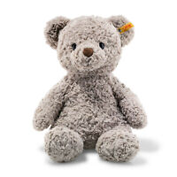 STEIFF® 113437 - Soft Cuddly Friends Honey Teddybär Grau Knopf im Ohr 38 cm Bär