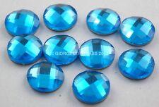 STRASS 10mm Blu azzurro hotfix 10pz tondo cabochon termoadesivi adesivi a caldo