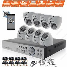 8ch HD 1080n 8x 1080p EXTERIOR CCTV Vigilancia Seguridad cámaras Kit de sistema
