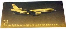 Vintage 1971 McDonnell Douglas DC-10 Brochure Introduction of Plane RARE