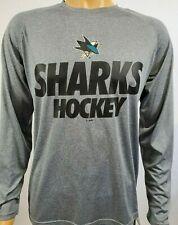 San Jose Sharks NHL Hockey Long Sleeve Gray T Shirt Sz M