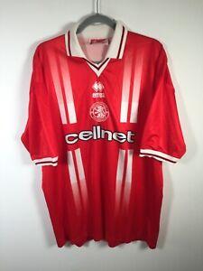 VINTAGE 1998-1999 Middlesborough FC Jersey Errea mens football soccer size 2XL