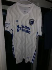 Adidas San Jose Earthquakes Authentic Away Jersey CE6286 Men's Size S NWT