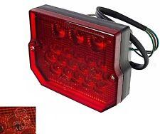 12V LED Rücklicht - E-geprüft Eckig 6V 12V mit KZB für Simson S50 S51, MZ ETZ