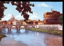ROMA - PONTE E CASTEL S.ANGELO - V1970 - ACQUARELLATA