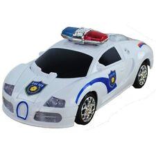 Bump & Go Battery Operated Transforming Action Police Car Transformer robot