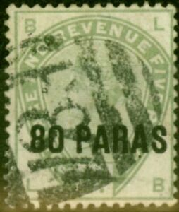 British Levant 1885 80pa on 5d Green SG2 Fine Used