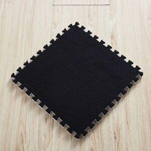 New Interlocking Shaggy Velvet Foam Mat Soft Puzzle Floor Carpet Tiles For Home