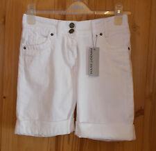 WAREHOUSE white denim cotton boyfriend bermuda shorts summer holiday BNWT 6 34