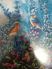 1997 Bits and Pieces Gold Seal 550 pc. jigsaw puzzle-THE BLUES-birds/flowers-New