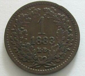 Hungary Copper Krajczar 1883, KM 458