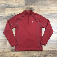 Under Armour 1/4 Zip Pullover Shirt Men's Large Athletic Sweater Jacket Fitted