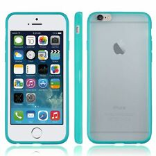 TURQUOISE PC FROSTED BACK FOR APPLE iPhone 6G BUMPER FRAME CASE COVER -UK