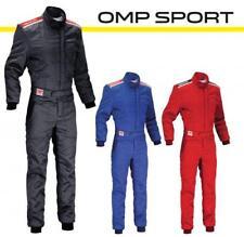 FIA Rennoverall OMP Sport schwarz blau rot FIA 8856-2000