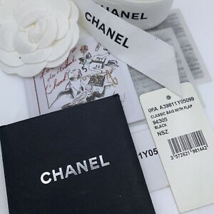 Chanel Original Ribbon Flower Sticker Booklet Tags For Classic Flap A39811Y05099