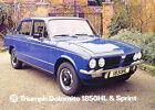 1976 Triumph Dolomite 1850 Sprint 12-page Car Sales Brochure Catalog - 1975 UK