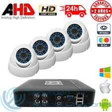 KIT AHD 720p DVR 4CH H264 + 4 CAMARAS INTERIOR MINI DOMO HD CCTV VIDEOVIGILANCIA