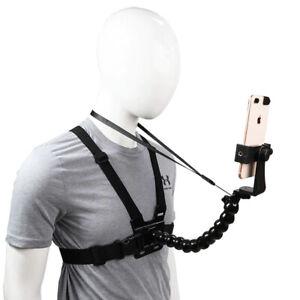 Handy Smartphone Brusthalterung Körper Halterung iPhone Samsung Trageriemen
