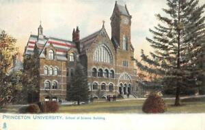 PRINCETON UNIVERSITY SCHOOL OF SCIENCE BUILDING NEW JERSEY POSTCARD (c. 1905)