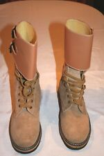 US WW2 Army Leather Double Buckle BOOTS - Repro size 9