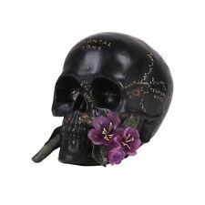 Skull with Rose Figurine Statue Skeleton Halloween