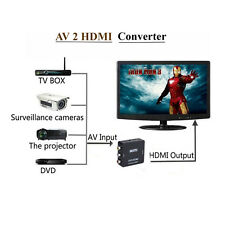 Mini AV 2 HDMI Converter RCA to Adapter Definition HD Upscaler Nintendo 1080P