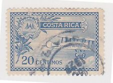 (CRA-147) 1926 Costa Rica 20c blue arms & Curtains Jenny (A)
