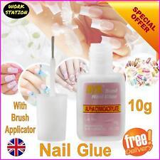 10g Nail Glue With Applicator Clear Strong Adhesive Acrylic False Nails Tip Art