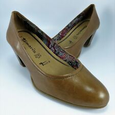 Tamaris Trend BlackBlue LeatherSuede T Strap Pumps Shoes