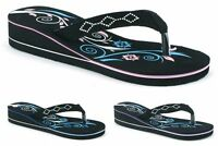 LADIES WOMENS GIRLS NEW TOE POST LOW WEDGE FLIP FLOPS SUMMER SANDALS SHOES SIZE