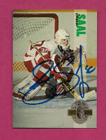 RARE RED WINGS JASON SAAL   GOALIE   AUTOGRAPH CARD (INV#2877)