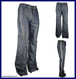 jeans pantaloni indian da uomo vintage a zampa svasati bootcut gamba larga 48 50