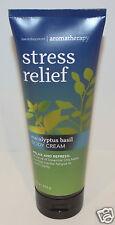 BATH & BODY WORKS AROMATHERAPY STRESS RELIEF EUCALYPTUS BASIL BODY CREAM LOTION