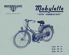 Mobylette Motobecane Moped AV33-54-34 Spare Parts Manual in French on CD