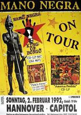"MANO NEGRA TOUR POSTER / KONZERTPLAKAT ""TOUR 1992"""