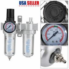 14in Air Compressor Filter Oil Water Separator Trap Tools With Regulator Gauge