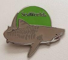 Seaworld Pin Tiger Shark Green Circle Sea World