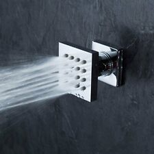 Brass Square 16-Nozzle Massage Shower Body Jet Spray Head For Spa Bathroom, Gold
