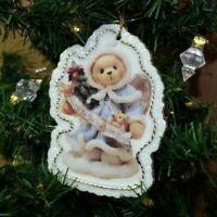 Cherished Teddies Enesco Vintage Angelic Wishes White Holiday Christmas Ornament