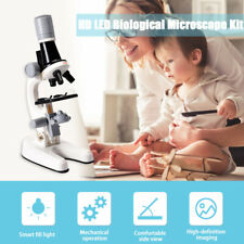 100x 400x 1200x Led Biological Microscope Kit For Home School Science Children