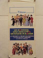 UN SORRISO UNO SCHIAFFO UN BACIO IN BOCCA regia M. Morra locandina orig. 1975