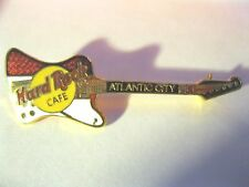 HARD ROCK CAFE Pin - ATLANTIC CITY - RED AND WHITE GUITAR - Reverse Firebird New