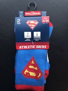 Superman Athletic Socks Equalizer Accesories Youth S/M Brand New
